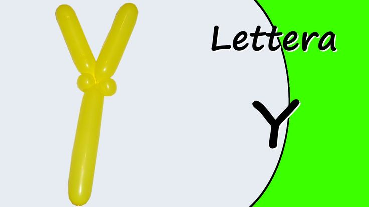 Video tutorial on how to make the letter Y with balloon twisting. Learn the alphabet with balloons modeled #alphabet #letterY
