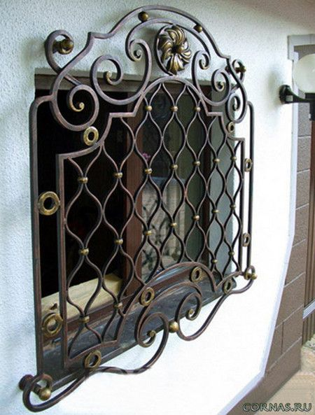 Кованные и сварные решетки на окна фото