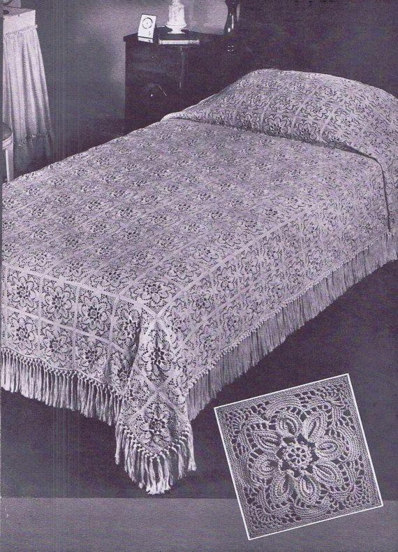 Vintage Crochet PATTERN for The Puritan Bedspread by ...