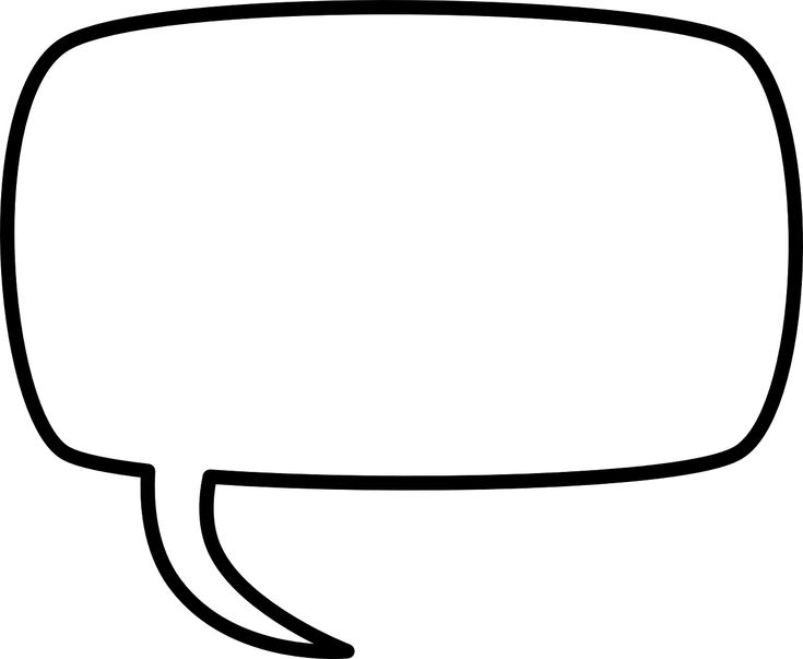 Speech Text Balloon Box Sign