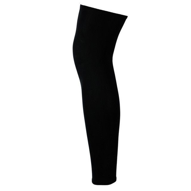 Kids Adult Pad Leg Knee Long Sleeve Protector Gear Crashproof Basketball Protection Black Pair Heat