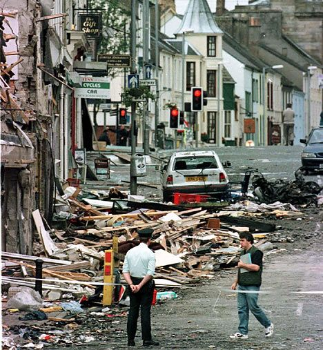 The Omagh bombing happened Saturday, August 15, 1998 in County Tyrone, Northern Ireland. A car bomb was detonated, killing 29 and injuring hundreds more. The attack was perpetrated by the Real IRA.
