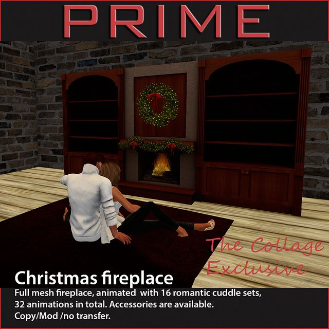 Christmas fireplace by PRIME The Collage Exclusive | Flickr - Photo Sharing!