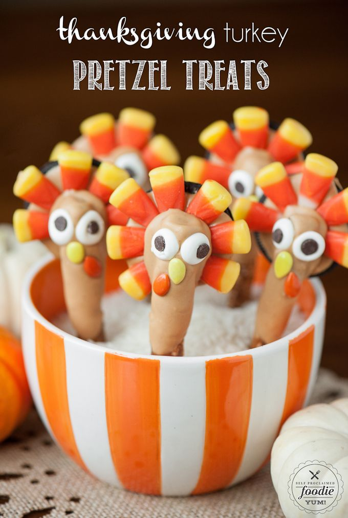 Thanksgiving Turkey Pretzel Treats http://livedan330.com/2015/11/22/thanksgiving-turkey-pretzel-treats/