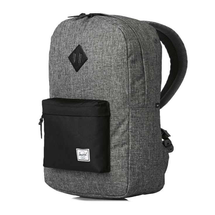 Herschel Backpacks - Herschel Heritage  - Raven Crosshatch/Black/Black Pebbled Leather