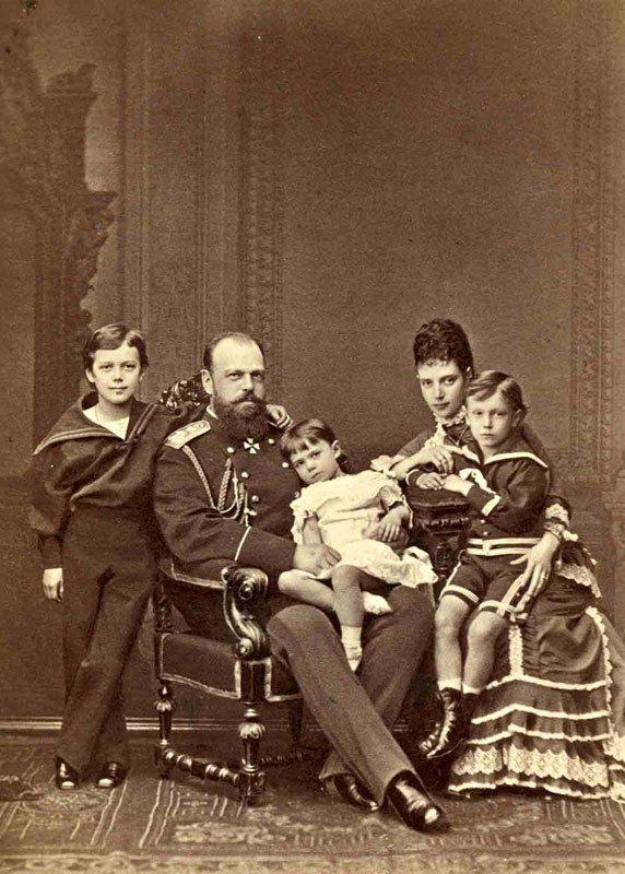 Young Nicolas with his family. Imperial Russia