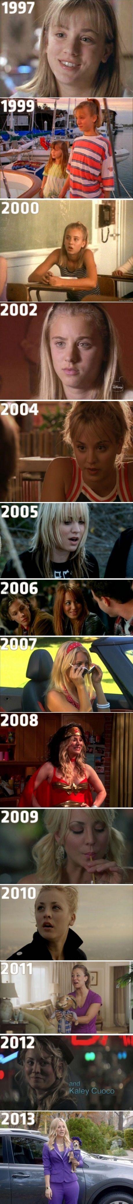 Kaley Cuoco Evolution..
