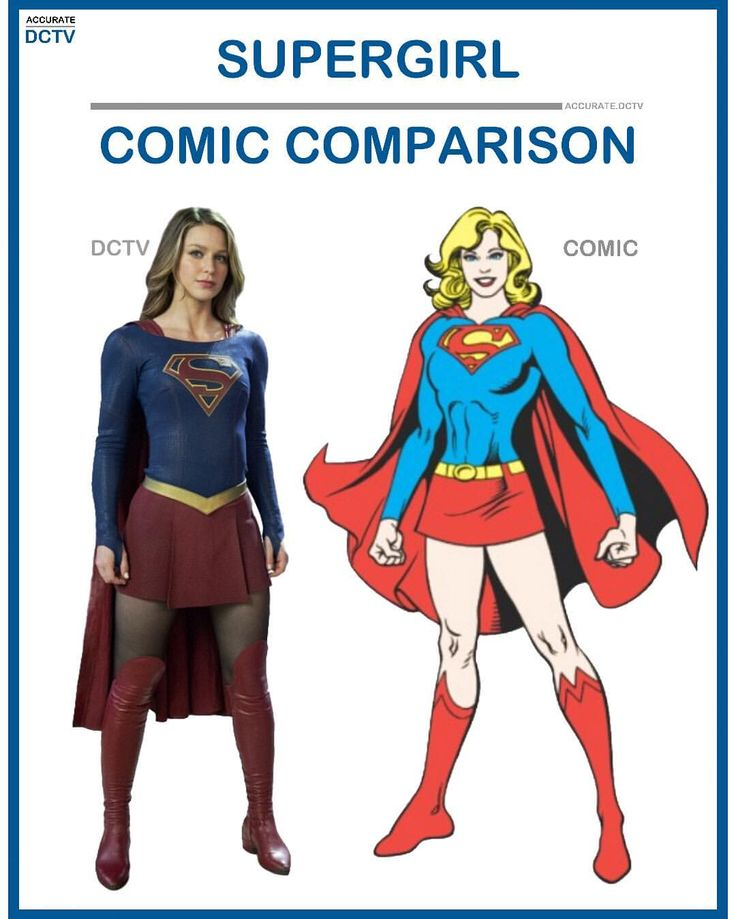 """59 Likes, 2 Comments - • Accurate.DCTV • dctv fanpage (@accurate.dctv) on Instagram: """"• Supergirl - Comic Comparison • I think this is one of if not the best adapted costumes in all of…"""""""