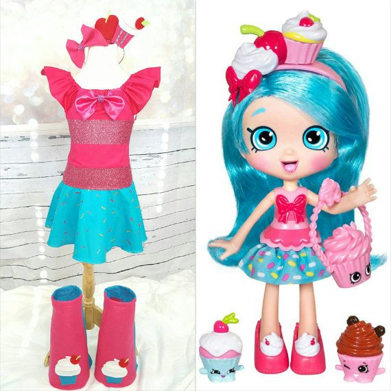 91 Best Images About Shopkins Birthday Party On Pinterest: Jessicake Shopkins Shoppie Doll Top Skirt Boots And