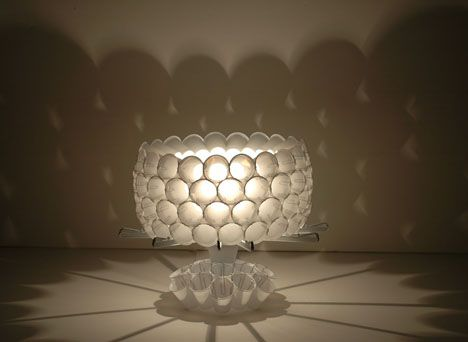 Would You Believe If I Told You That This Beautiful Lamp Was Made Of Plastic  Cups