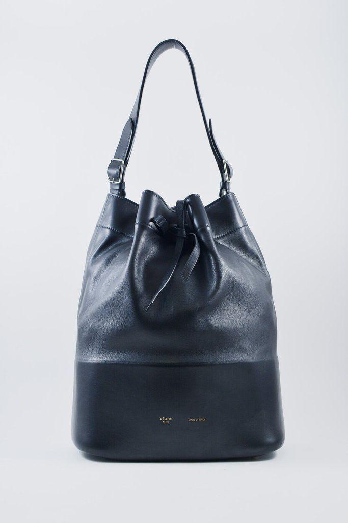 41a885c1625a Celine Seau Black Lambskin Bucket Bag