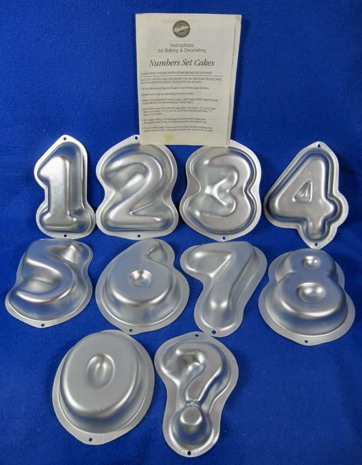 Number  Shaped Cake Pans