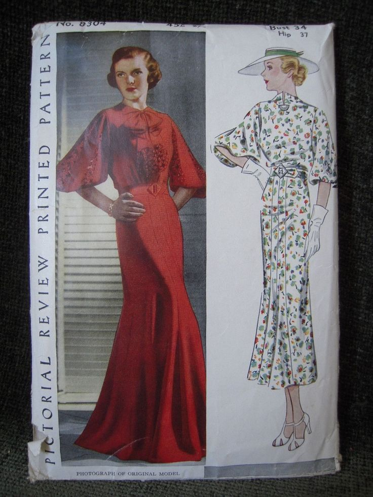 Pictorial Review 8304 | 1930s Misses' Dress
