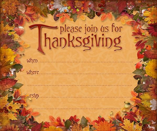 Best Thanksgiving Invitations Images On   Laughter