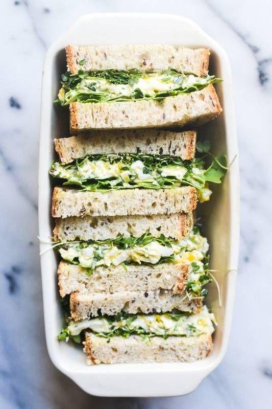 Egg Salad Sandwich with Fresh Herbs