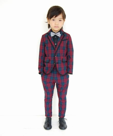 2B piping tailored tartan jacket
