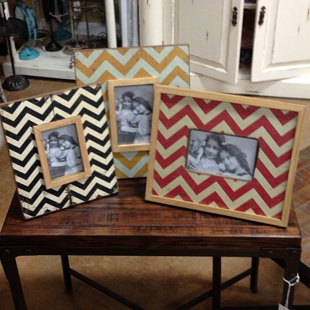 New #chevron picture frames in all different shapes and sizes.