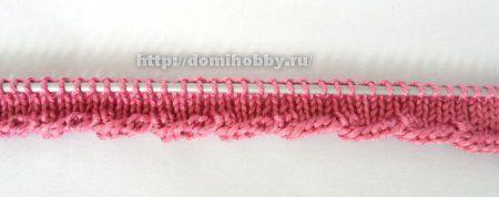 Вязание спицами перекрученной кромки