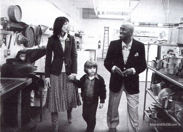 The Shining - Publicity still of Shelley Duvall, Danny Lloyd & Scatman Crothers