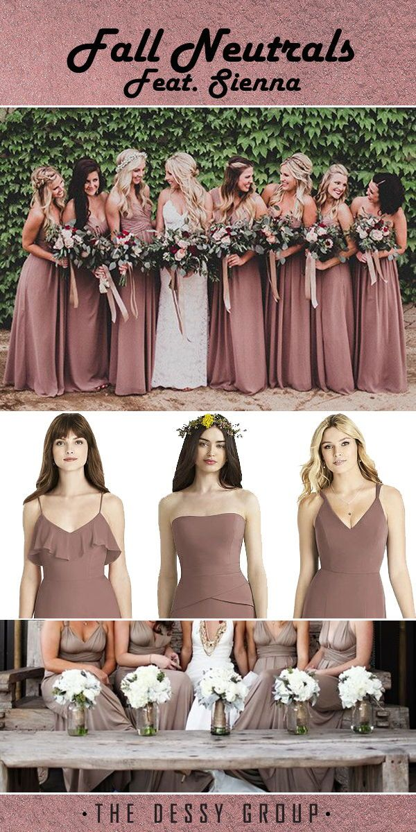 c0b4e14d7e9 The perfect neutral dresses for a fall wedding. Featuring the color ...