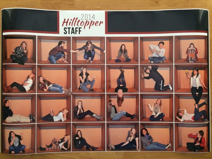 Yearbook staff spread made into poster -- What if you thought outside the box?