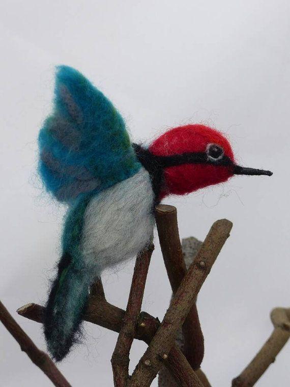 Guarda questo articolo nel mio negozio Etsy https://www.etsy.com/it/listing/489201305/colibri-testa-rossa