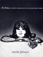 Pierre Balmain (Perfumes) 1969 Miss Balmain, René Gruau