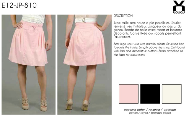 Voyou pink skirt