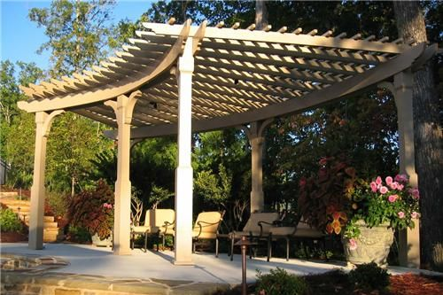 Curved Pergola  Pergola and Patio Cover  Outside Landscape Group, LLC  Alpharetta, GA