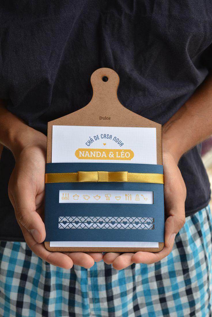 | Nanda & Leo | convite chá de casa nova on Behance