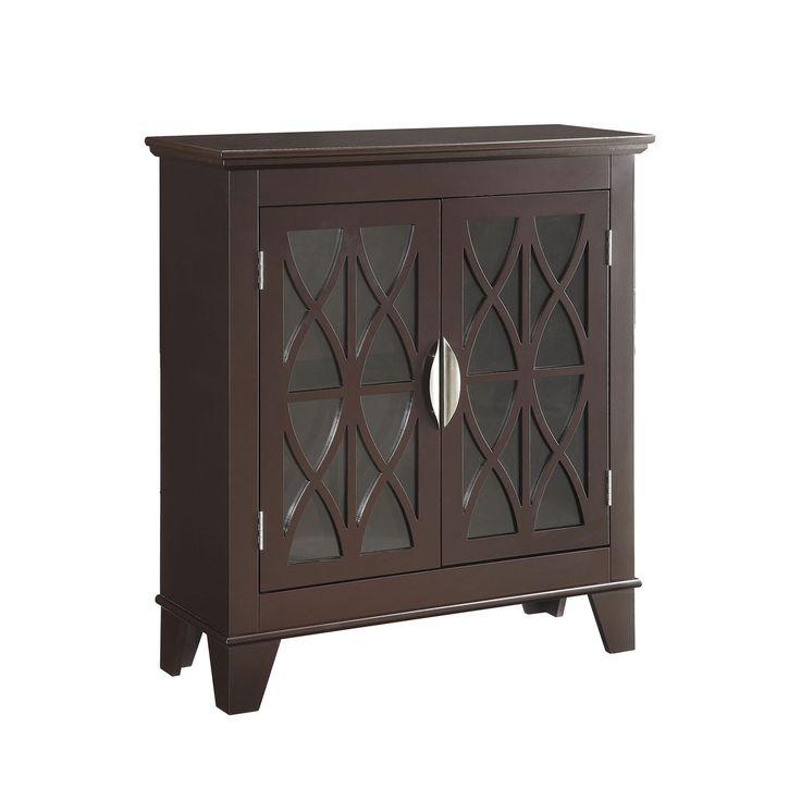 Cappuccino Accent Cabinet Coaster Furniture Display Cabinets Accent Cabinets & Chests Acce