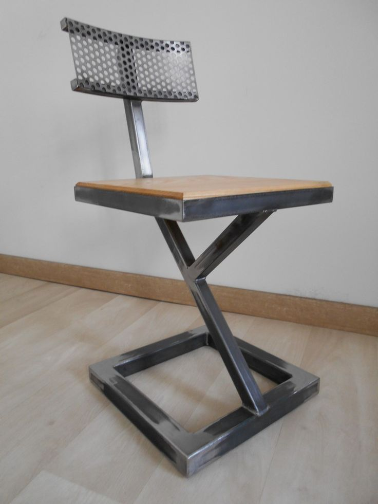 1102 best metal fabrication welding images on pinterest for Industrial design chair