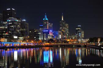 #Melbourne at night #Australia