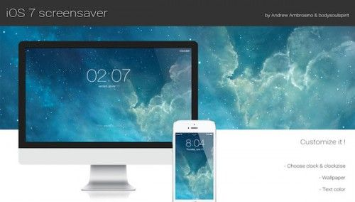 Écran de verrouillage style iOS 7 sur Mac