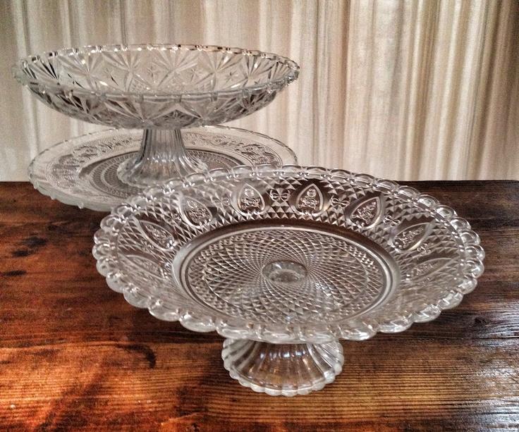 Romantic glass raised for cakes (pcs 5)