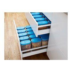 JÄMKA Pot m deksel droge levensm, set v 2 - 1.1/1.9 l - IKEA