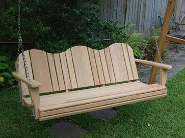 Cypress Porch Swing - traditional - outdoor swingsets - jackson - Old South cypress Works