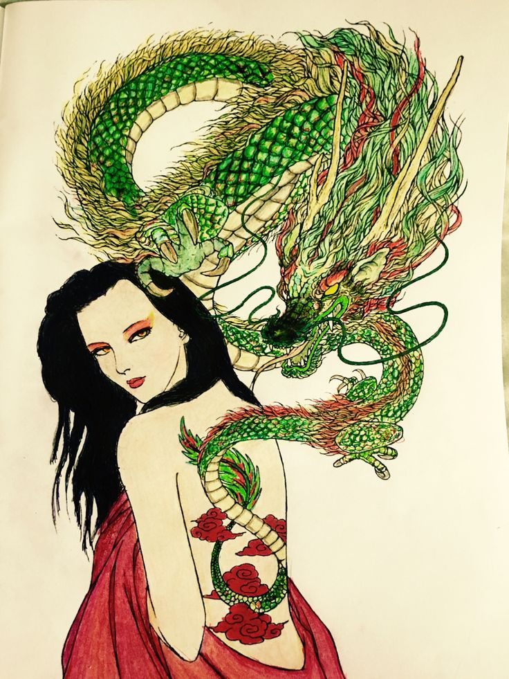 girl with the dragon tattoo japanese ghost tale color