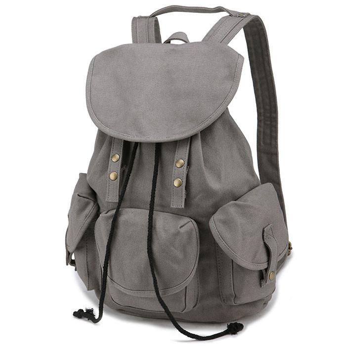 Unique High School Bag Leisure Student Travel Canvas Backpack