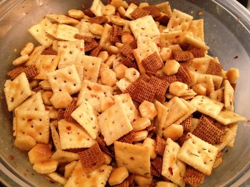 zesty crackers - saltines, ranch, crushed red pepper
