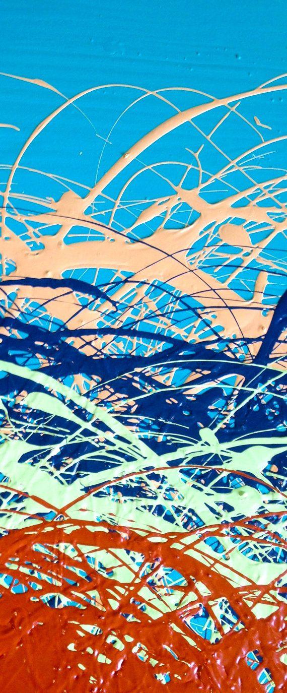 Pittura su tela arte astratta contemporanea di gretaclairedesign