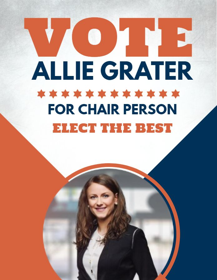campaign election poster flyer template