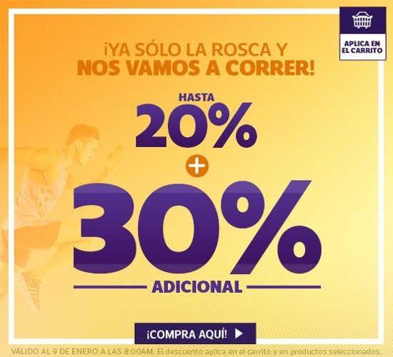 Netshoes,la tienda de calzado, ropa y artículos deportivos para hombres y mujeres como promoción de día de reyes tiene hasta 20% de descuento + 30% de des