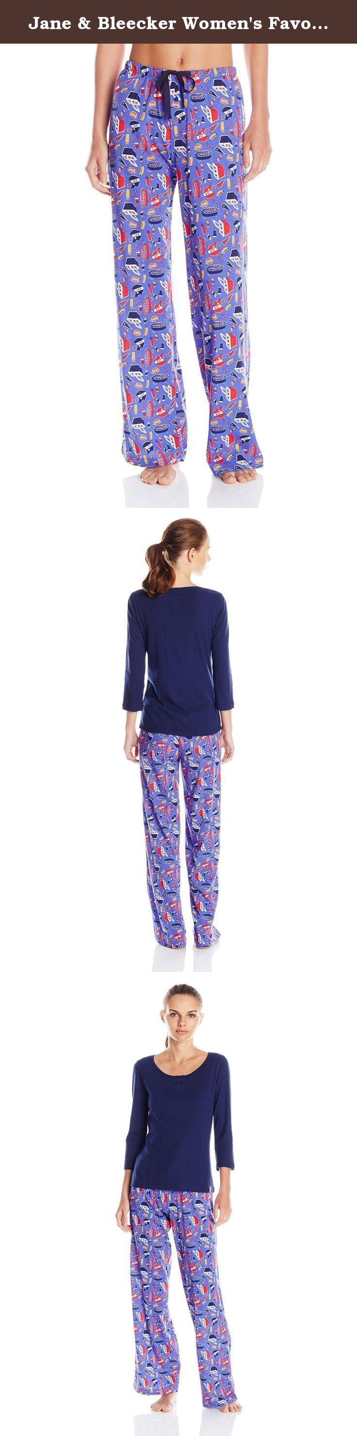 Jane & Bleecker Women's Favortie Rib Tee and Super Soft Jersey Pant Set, Tailgate, X-Large. Lightweight yet super cozy, the Jane and bleecker favorite rib tee is an everyday favorite paired with the Jane and bleecker super soft jersey pant in this pajama set.