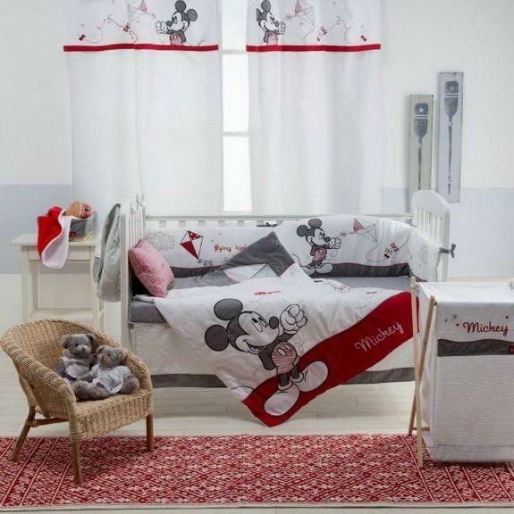 Classic Mickey Mouse Crib Bedding Set