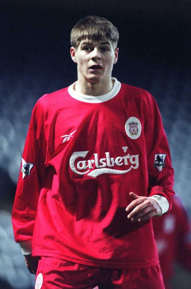 A VERY young Steven Gerrard.