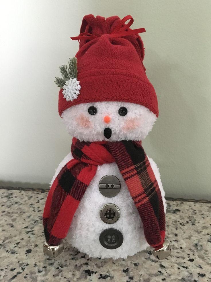 Best sock snowman ideas on pinterest crafts