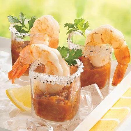 Margarita Shot Glass Shrimp