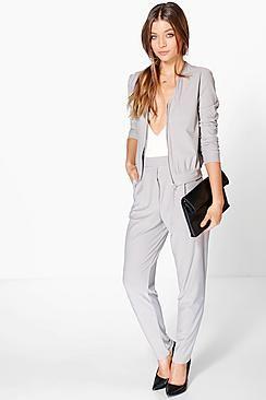 Eloise Pleat Front Pocket Crepe Trouser