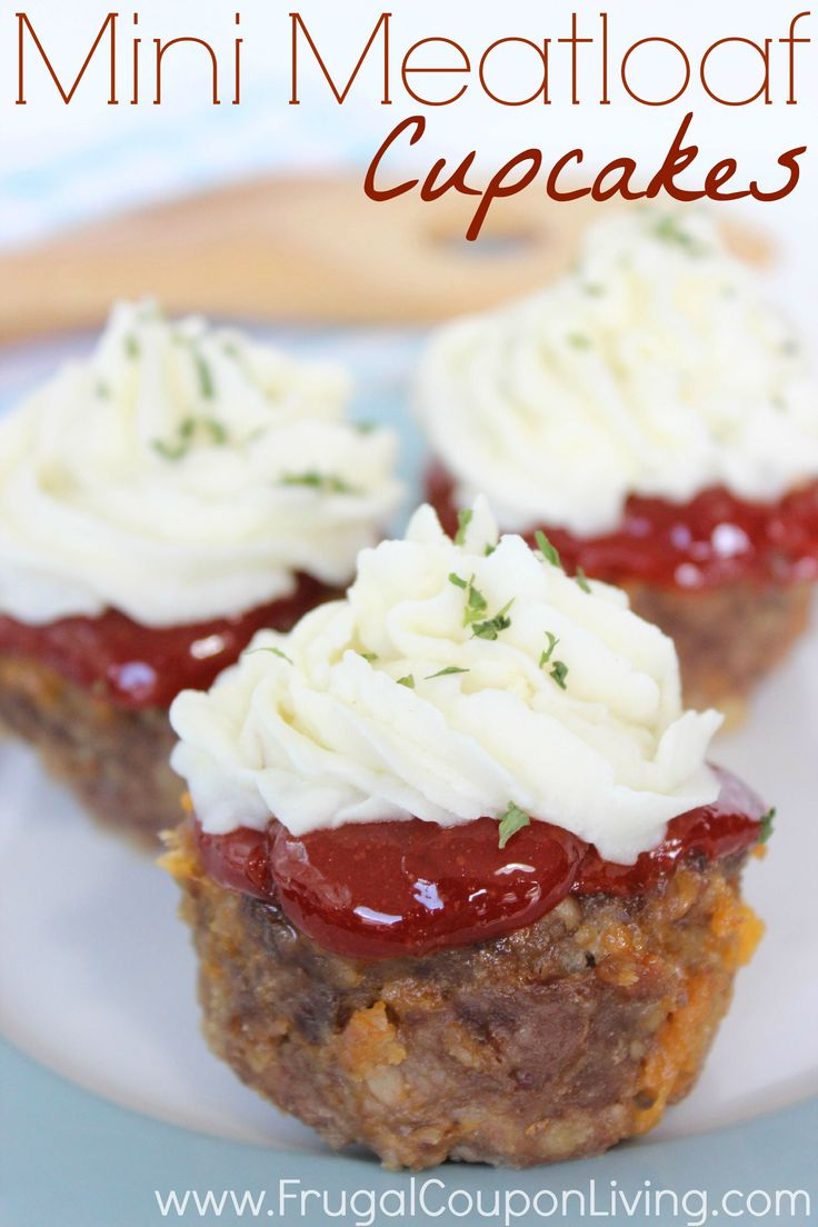 Frugal Coupon Living's Mini Meatloaf Cupcakes Recipe. Create a fun twist on your dinner entree. Pin to Pinterest